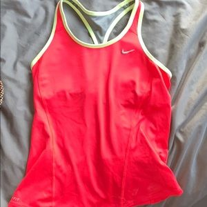 Nike workout top w/ built in bra